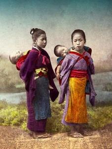 little girls carry babies with broken necks