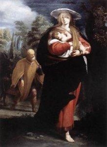 """""""Flight into Egypt"""", ca. 1620, by Giovanni Andrea Ansaldo (1584-1638)"""