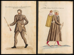 'Kostüme der Männer und Frauen in Augsburg und Nürnberg, Deutschland, Europa, Orient und Afrika - BSB Cod.icon. 341' at Bayerischen Staatsbibliothek contains around three hundred h