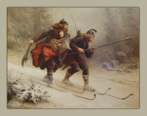 Norway Birkebeinerne_på_Ski_over_Fjeldet_med_Kongsbarnet